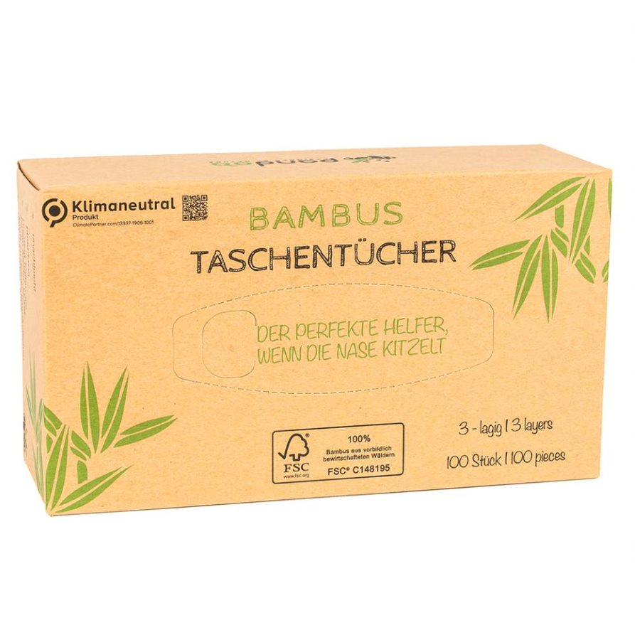 Bambus Taschentücher, 3-lagig